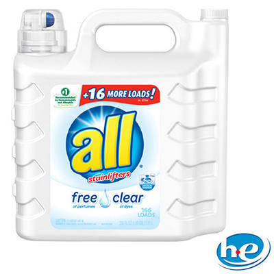 all 2X Ultra with Stainlifter Free & Clear (250 fl. oz./166 loads)