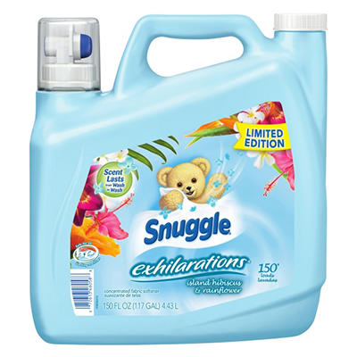 Snuggle Island  Hibiscus Liquid Fabric Softener (150 Loads, 150 oz.)