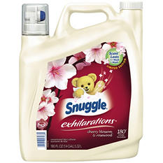 Snuggle Liquid Fabric Softener, Cherry Blossom & Rosewood Scent (180oz.,180 loads)