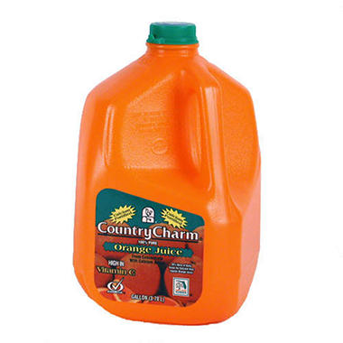 Country Charm Orange Juice w/ Calcium - 1 gal.