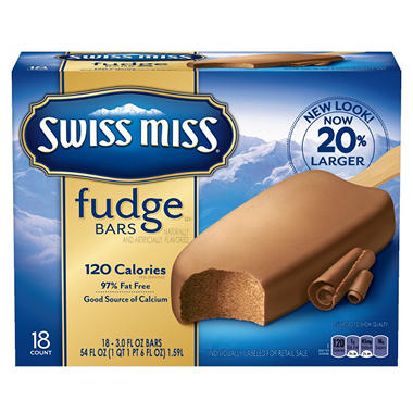 Swiss Miss Fudge Bars - 18 ct. - 54 fl. oz.