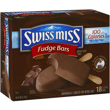 Swiss Miss� 100 Calorie Fudge Bars - 18/2.5oz