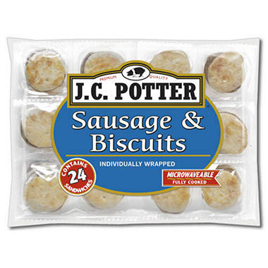 J.C. Potter Sausage & Biscuits - 24 ct.
