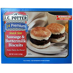 J.C. Potter Snack Size Sausage & Buttermilk Biscuits (43 oz.)