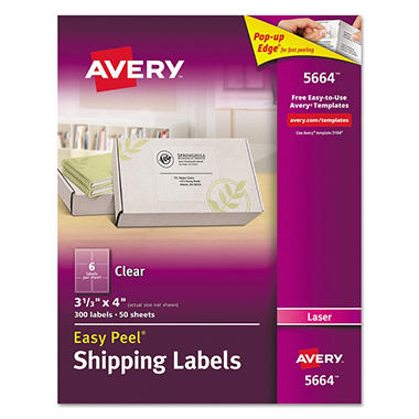 Avery Clear Laser Mailing Labels