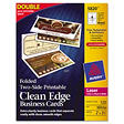 Avery 5820 - Clean Edge Business Cards, Foldable, Laser - 120 Cards