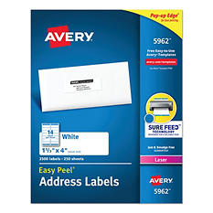 Avery Jam-Free Laser Mailing Labels