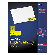 Avery Neon High Visibility Rectangle Laser Labels