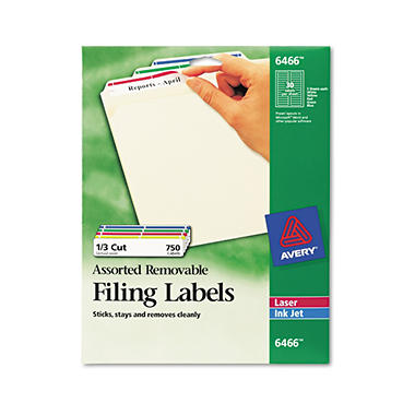 Avery Removable Laser Filing Labels