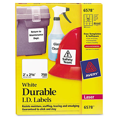 Avery Permanent Durable ID Laser Labels