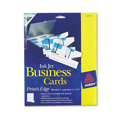 Avery 8373 - Perforated Business Cards, Inkjet, Glossy - 200 Cards
