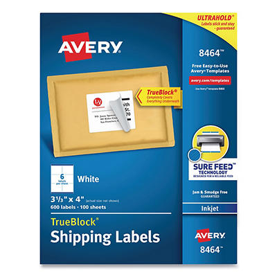 Avery White Inkjet Mailing Labels