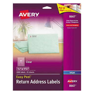 Avery� Inkjet Clear Address Labels - 2,000 ct.