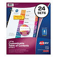 Avery Multicolor Uncollated Index Dividers