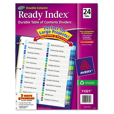 Avery® Double-Column Table of Contents Dividers