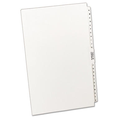 Avery Legal Exhibit Reference Dividers