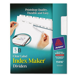 Avery Index Maker Clear Label Dividers, 5 Tabs - Select Set