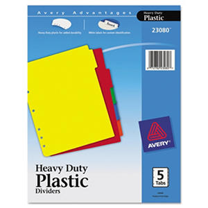 Avery Plastic Tab Dividers With Labels, Select Tab