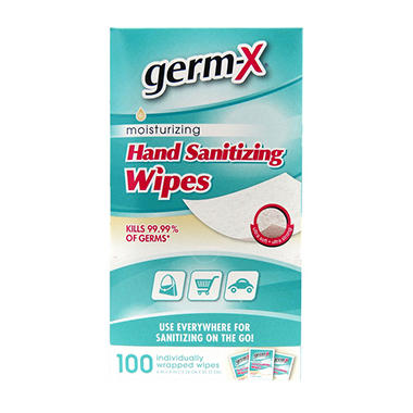Germ-X® Antibacterial Soft Wipes Singles-100 ct