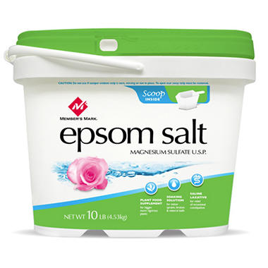 Member's Mark� Epsom Salt - Net Wt. 10 lbs.