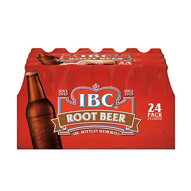IBC Root Beer - 12 oz. Glass Bottles - 24 pk.