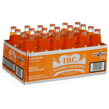 IBC® Tangerine Cream Soda - 24/12 oz. bottles