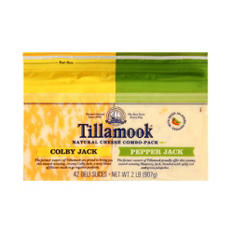 Tillamook Colby Jack/Pepper Jack Variety Pack Cheese Slices (32 oz.)