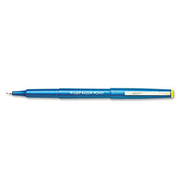 Pilot - Razor Point Porous Point Stick Pen, Blue Ink, Extra Fine - 12 Pens