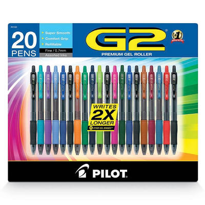 Pilot G2 Assorted Colors Gel Pen (20 ct.)
