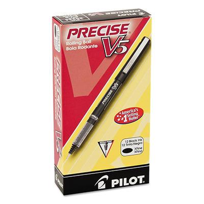 Pilot Precise V5 Roller Ball Precision Point Stick Pens, Select Color (Extra-Fine, 12 ct.)