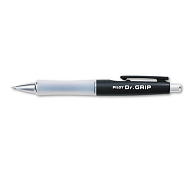 Pilot - Dr. Grip Ballpoint Retractable Pen, Black Ink - Medium