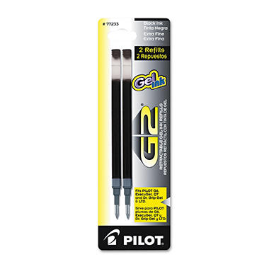 Pilot - Refill for G2 Gel, Dr. Grip Gel/Ltd, ExecuGel G6, Q7, Ex Fine, Blue - 2 Pack