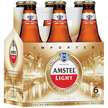Amstel Light Lager - 6/12 oz.