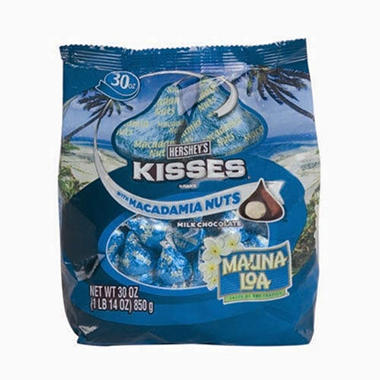 Hershey's Mauna Loa Chocolate Kisses With Macadamia Nuts (30 oz.)