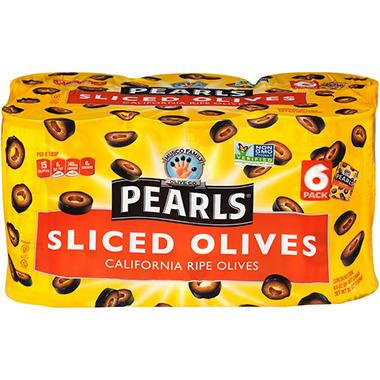 Musco Black Pearls® Sliced Olives 6-6.5 OZ.