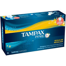 Tampax Pearl Regular, Unscented (8 ct.)