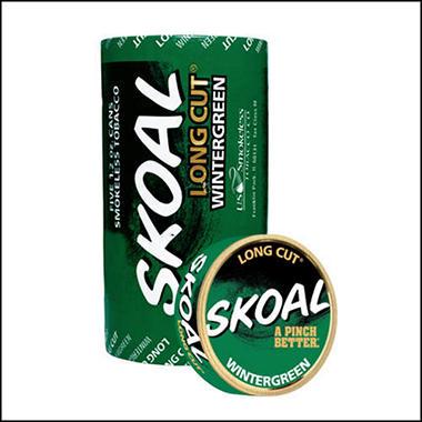 Skoal Long Cut Wintergreen - 5 can roll