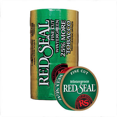 Red Seal Fine Cut Wintergreen - 5 Can Roll
