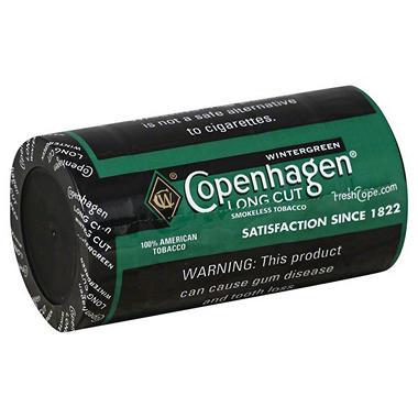 Copenhagen Long Cut Wintergreen - 1.2 oz. - 5 cans