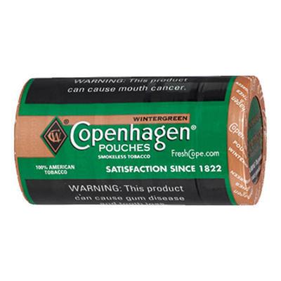 Copenhagen Wintergreen Pouches - .82 oz. - 5 cans