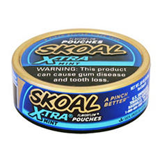Skoal X-tra Pouches Mint - .82 oz. - 5 cans