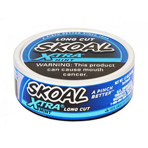 Skoal X-tra Long Cut Mint - 1.2 oz. - 5 cans