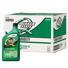 Quaker State 10W-40 Motor Oil - 1 Quart Bottles - 12 Pack