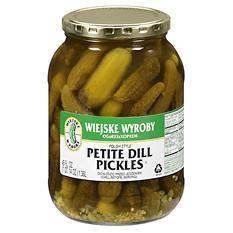 Wiejske Wyroby Petite Dill Pickles - 46 oz.