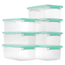 Sterilite 6-Quart Latching Boxes 7-Pack (Mint)