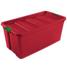 Sterilite 50 Gallon Stackable Storage Tote (Rocket Red)