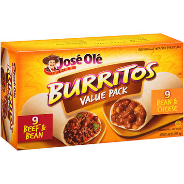 Jos� Ol� Burritos Value Pack - 5.63 lb.