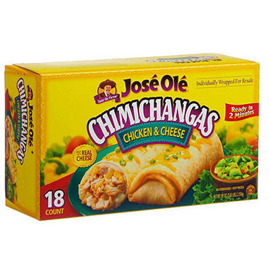 José Olé® Chicken&Cheese Chimichangas-18ct