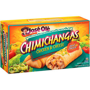 Jose Ole Chicken & Cheese Chimichangas - 16 ct.