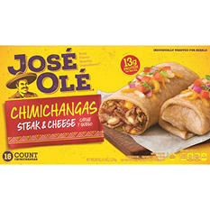 José Olé Steak & Cheese Chimichangas - 80 oz.